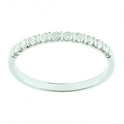 Alliance Diamant en or blanc - HAWAI